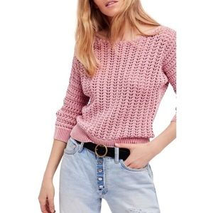 NWOT! Free People Boomerang boat-neck sweater
